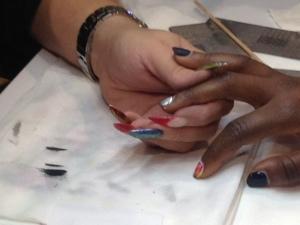 Fierce silver is a new nail art trend.