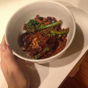 vegan quinoa dinner